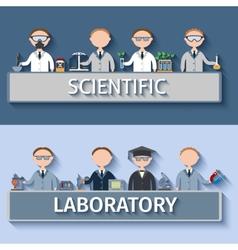 Scientists in lab vector