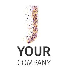 Alphabet particles logotype letter-j vector