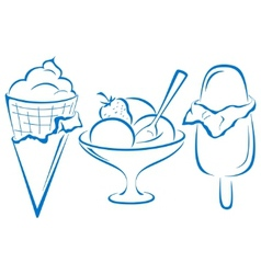Icecream set vector