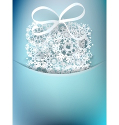 Christmas gift box made from snowflakes  eps10 vector