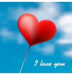 Love heart balloon in blue sky  eps10 vector