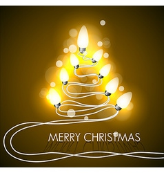 Background with christmas tree and lights vector