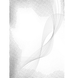 Modern halftone swoosh speed abstract lines vector