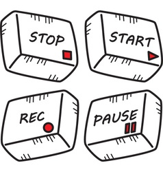 Media playback buttons vector