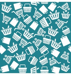 Set of shopping cart icons pattern vector