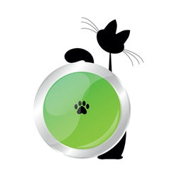 Cat button vector