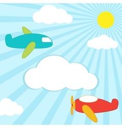 Planes background vector