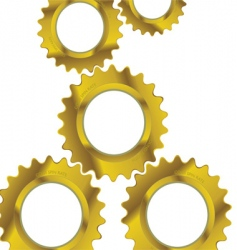 Machine cogs vector