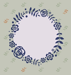 Elegant design with floral wreath vector