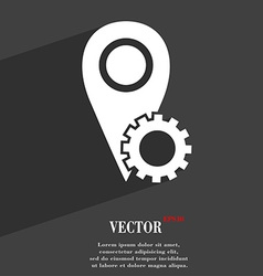 Map pointer setting icon symbol flat modern web vector