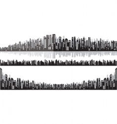 Panorama cityscape vector