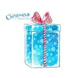 Gift box watercolor art vector