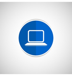 Laptop icon network display white business blank vector
