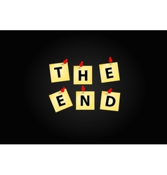 The end screen design template vector