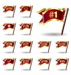 Promotional flags vector