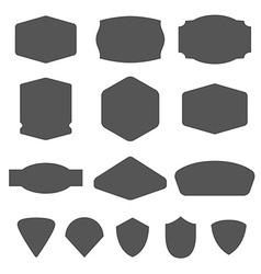 Set of vintage frames for emblems labels insigni vector