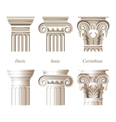 Columns icons vector