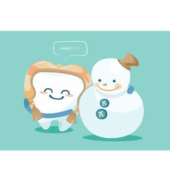 Winter of tooth vector
