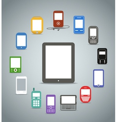 Modern gadgets vector