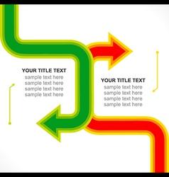 Creative arrow business info-graphics design vector