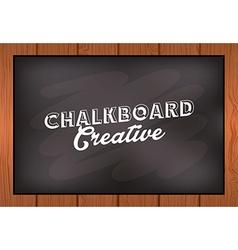 Chalkboard creative vector