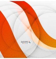 Orange soft wave abstraction vector