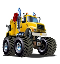 Cartoon monster tow truck vector