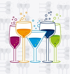 Cocktail design vector