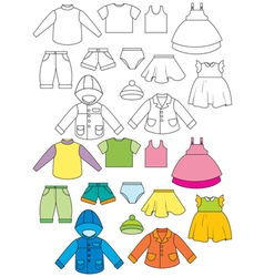 Set of clothing vector
