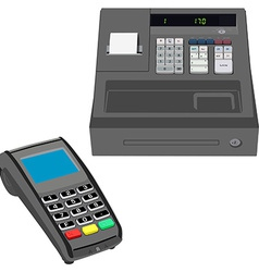 Cash register and pos terminal vector