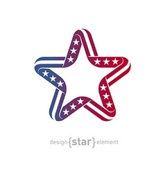 Pseudo volume star with american flag symbols vector
