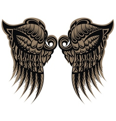 Winged tattoo vector