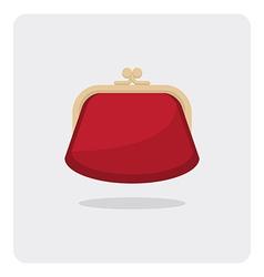 Flat icon purse vector