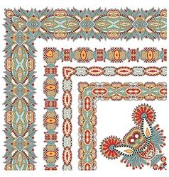 Floral vintage frame design set all components are vector
