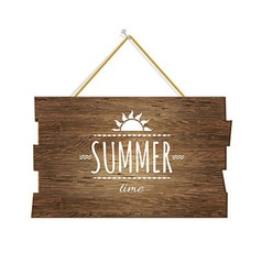 Summer time wooden board vector