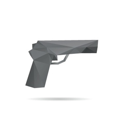 Gun abstract isolated vector