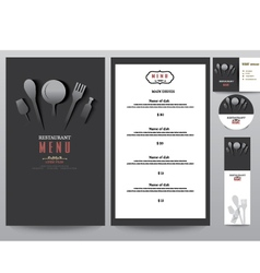 Restaurant menu design set vector