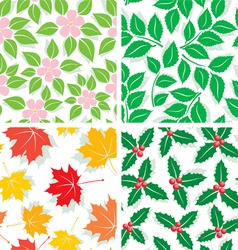 Patterns of four seasons vector