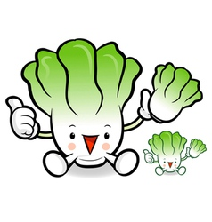 Napa cabbage characters to promote vegetable selli vector