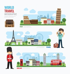 Travel and outdoor europe landmark template vector