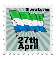 Post stamp of national day of sierra leone vector