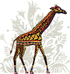 Giraffe with patterns vector