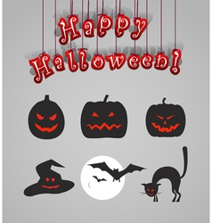 Helloween silhouettes vector