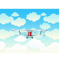 Aeroplane in the blue sky vector