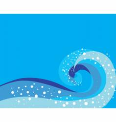 Storm wave pattern vector