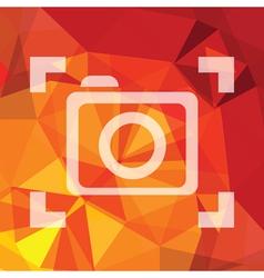 Camera symbol vector