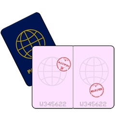Stamped passport vector