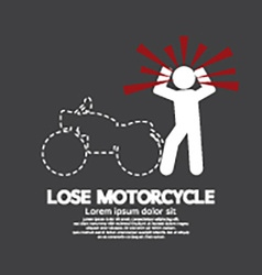 Lose motorcycle concept graphic symbol vector
