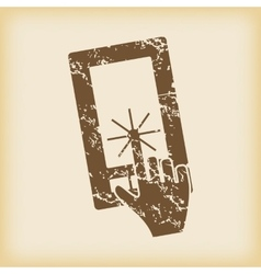 Grungy touching screen icon vector