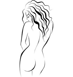 Beautiful female body vector